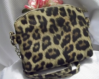 MINT Beautiful Faux Leather Leopard Print Double Compartment Chain Shoulder Bag - Cross Body  - Womens - Vintage - Accessory