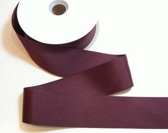 Burgundy Grosgrain Ribbon, Offray Maroon Grosgrain Ribbon 2 1/4 inches wide x 10 yards
