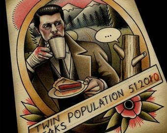 Twin Peaks Tattoo Art Print