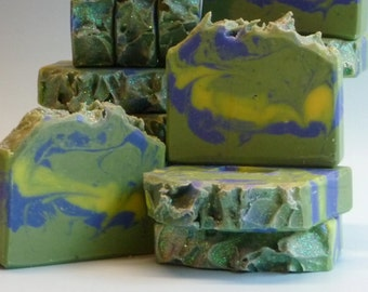 Winter Woodland Soap, Artisan Soap, Handmade Soap, Cold Process Soap, Men, Women, Kids, Fragrant, Invigorating, Hand-crafted, Fresh, Vibrant