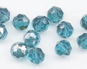 "12 Swarovski crystals with ""satin"" effect - art. 5000 - indicolite satin - 8 mm"