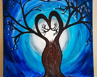 Original painting acrylics on primed canvas and varnished with satin-matt finish.  I call it A Mother's Love