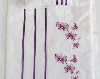 Doll Bedding Set 4pcs, Doll Bed Linen, Handmade, Luxurious - Sheet, Blanket, Pillowcase, Pillow, Sweet gift