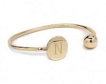 Monogram Bracelet, Initial Bracelet, Engraved
