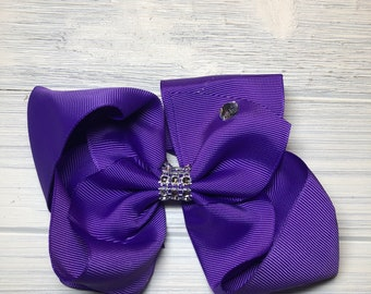 """Purple Hair bow 5.5"""""""