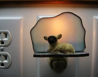 Lamb Stained Glass Night Light