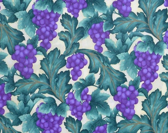 Summer Harvest by Laurie Godin for Northcott 2894 Grapes Cotton Print Fabric