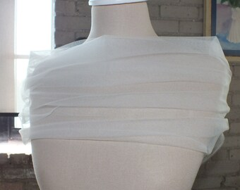 Bridal Wrap, Wedding Cover Up, Wedding Shrug, Bridal Bolero in Tulle White or Ivory, champagne and diamond white.