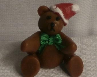 Dollhouse Miniature Fimo Brown Teddy Bear  (RG)