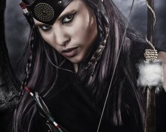 Leather headpiece • warrior crown- statement jewelry