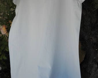 Nightgown vintage linen and embroidery