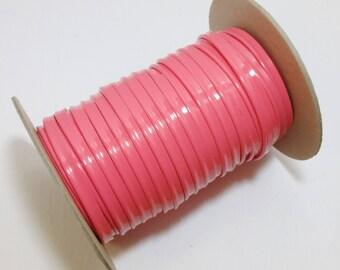 """Pink Patent Polyurethane Leatherette Cord Piping 5/16"""" (5 yds) 2095XUPU"""