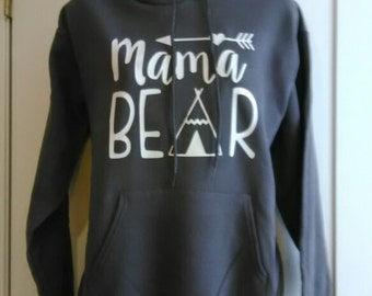 Mama Bear Hoodie, Mama Bear, fast shipping, boutique style hoodie,