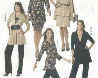 Nancy Zieman OOP McCalls Sewing Pattern M6247 Womens Knit Coordinates Jacket Top Skirt Pants Size 6 8 10 12 14 Bust 30 1/2 to 36 UnCut