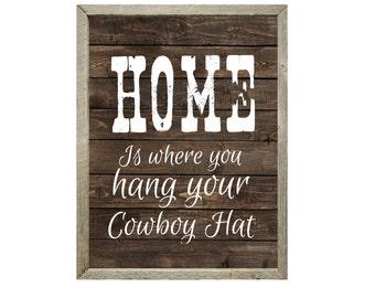 Western Decor, Western Print, Gift for Cowboy, Gift for Cowgirl, Country Western Decor, Western Wall Art