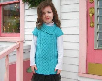 Devenish Cabled Sweater Knitting Pattern PDF