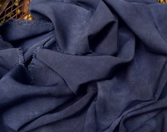 Hand Dyed Rayon Fabric SALE, Colbalt Blue, 100% Cotton, 58x21 in, DYI, Fiber Crafts