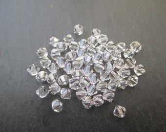 Crystal Swarovski bicone 4 mm: 100 beads crystal