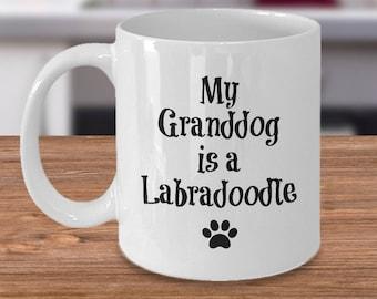 Labradoodle Mug – My Granddog – Funny Dog Lover Coffee Cup Gift, 11 oz.