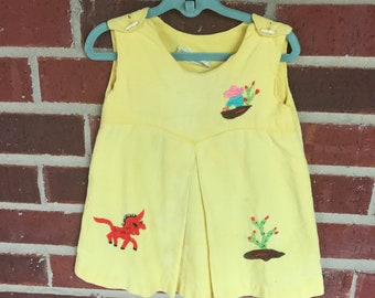 VINTAGE 60's Toddler Mexican Dress // Embroidered // Retro // Fiesta