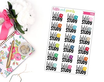 Bible Study Planner Stickers for the Erin Condren Life Planner, Church Time Sticker, Religious Planner Sticker - [P0110]