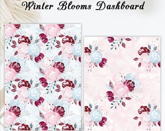Winter Blooms | Travelers notebook Dashboard |