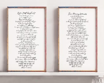 Custom Wedding Vow Print, Modern Calligraphy, Wedding vows, Anniversary Gift, 11x14