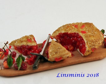 12th scale handmade dollhouse miniature Cherry Pie