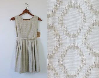 Midnight Dancing Dress | vintage 1960s dress | vintage belted dress | 60s sleeveless dress | vintage extra small dress