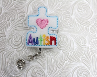 awareness - nursing badge holder - retractable - badge reel - name badge holder - felt  badge reel - badge pull - nurse