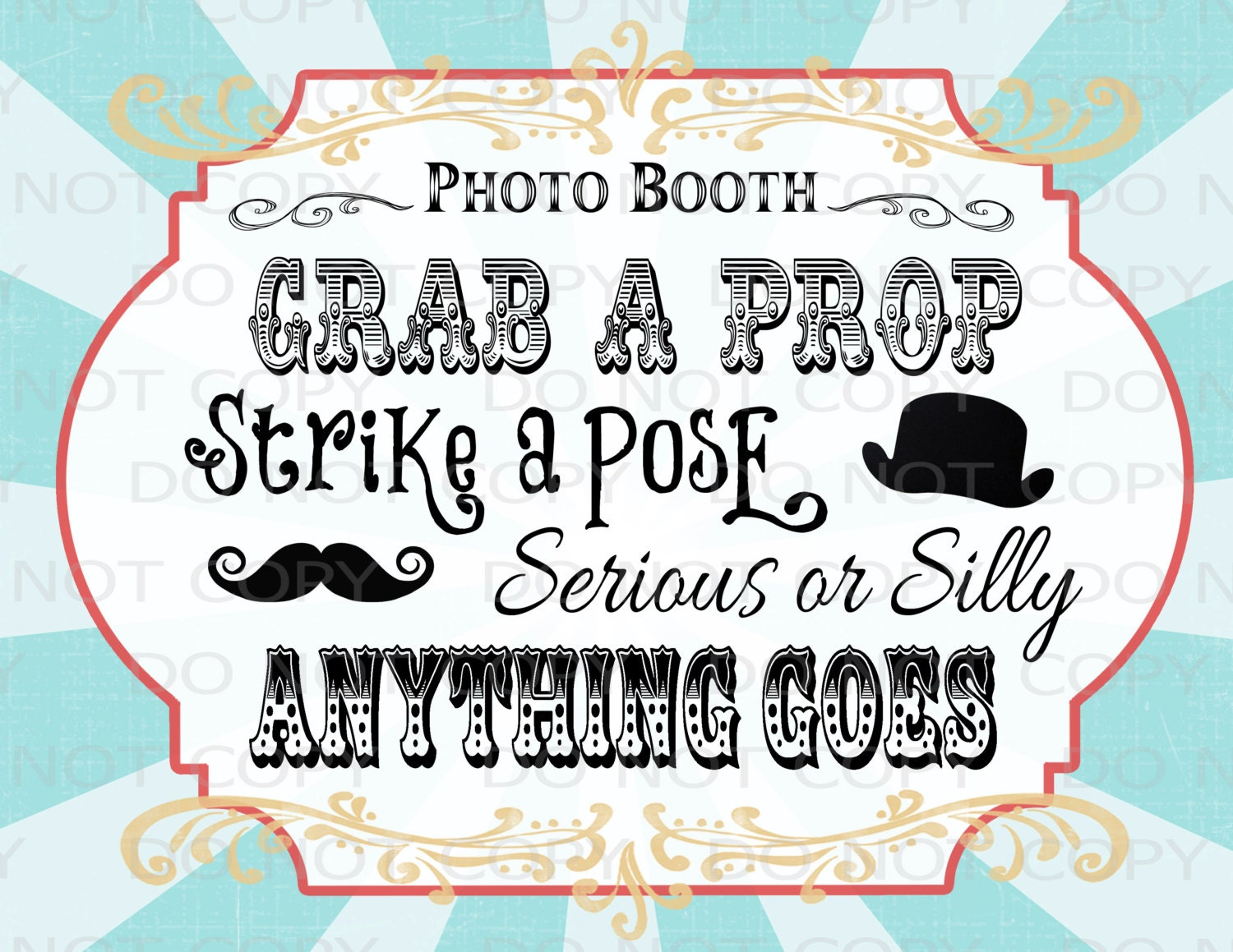 Printable diy vintage circus photo booth prop sign 85 zoom solutioingenieria Image collections