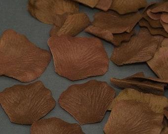 75% Off 200 Cocoa Brown Silk Flower Wedding Petals