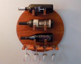 Wine Rack,Wine glass holder, unique gift for wine-lovers, Mother's Day, Housewarming gift, Handmade wine gift, Handmade wooden wine rack