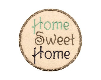 Home Decor Embroidery - Machine Embroidery - Home Sweet Home - Wall Hanging Download - Towel Pattern - FOUR Sizes - by Pattys Appliques