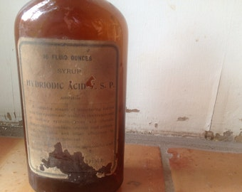 Late 1800s Apothecary Bottle. Authentic late 1800s Apothecary