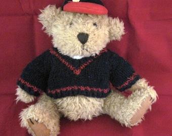 Bear, Tan Plush Bear, Brass button bear, Pickford bear Ltd., Vintage Bear, Tully bear of Joy
