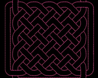 """Celtic Quilting background Machine Embroidery Designs 4"""" , 5"""" and 6""""  size - # 03"""