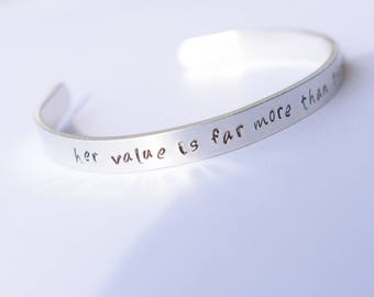 Her Value is Far More Than That Of Corals Cuff Bracelet