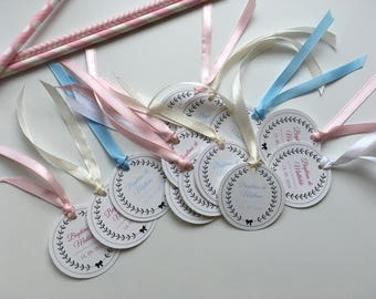 Sweets set of 15 gift tags / girl or boy baptism