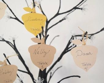 Acorn Name Tags - Set of 25- Woodland Wedding Tags - Wedding Acorn Tags - Acorn Birthday Tags - Nature Wedding Tags - Hootsie