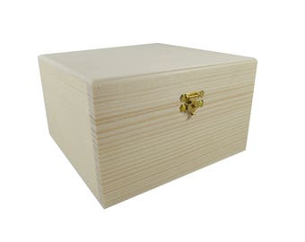 Wooden storage box - to decorate or paint