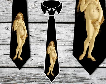 Venus Tie, The Birth of Venus by Botticelli  - Venus Necktie Design,  FREE  SHIPPING