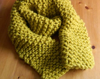 Make Your Own Chunky Garter Stitch Scarf Kit - Scarf Knitting Pattern & Wool kit - Knit your own Scarf