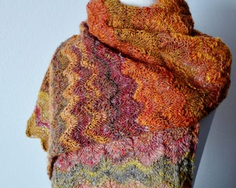 New Handknitting Pattern .PDF Instant Download for REED Wrap & Cowl. Pattern Only, PDF, Knit, Fiber Arts, Make Your Own, Handspun Compatible