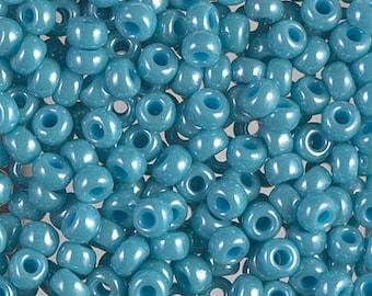 6/0 Miyuki Turquoise Green Luster Seed Beads, 2126, Turquoise Green Luster 6/0 Miyuki, 15 Grams