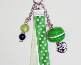 Key ring or jewelry bag sticker
