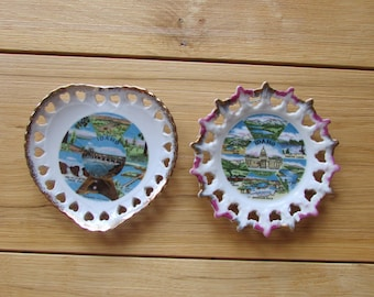Idaho Souvenir State Plate Set of 2 Vintage Collectable