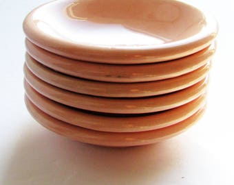 Antique Grindley Peach Petal BUTTER PAT plates, Set of 6