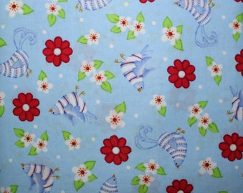 Fabric, Cotton Fabric, Sewing Fabric, Quilting Fabric, Sold By The Yard, Cranston VIP, Sewing, Quilting, Birds, Flowers, Fabric Shop