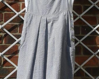 Grey Stripe Pinny Dress